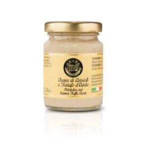 artichokes and summer truffle cream