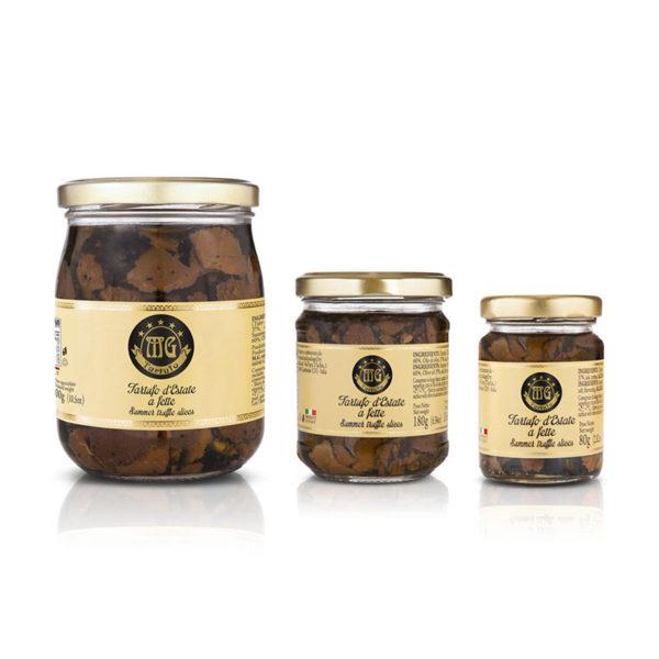 tartufo estivo a fette in olio di oliva